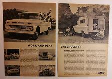1962 Chevy Trucks Ad - Pickup + Corvair 95 Rampside + Suburban Carryall