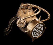 Steampunk Máscara de gas - Contaminated Air - Gothic Accesorio futurista Máscara