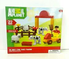 Animal Planet Junior Building Blocks A Day On The Farm 22 pieces Block Tech New