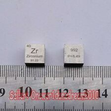 1 Piece 99.2% Zirconium Metal Cube Zr 6.44g Carved Element Periodic Table 10mm