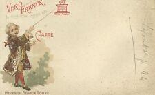 Cartolina Intonsa Vero Franck La Migliore Aggiunta al Caffè Heinrich Franck 1900