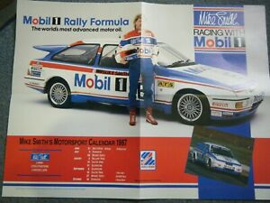 FORD SIERRA COSWORTH MIKE SMITH POSTER 1987 AFFICHE MOTORING-MAN MOBIL 1 BTCC