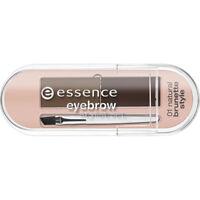 Essence Eye Brow Kit 2 Powder Shadows Brush Stylist Set Natural Brunette 01