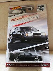 Hot Wheels MODERN CLASSICS MERCEDES BENZ 190E 2.5 - 16 EVO II Real Riders