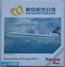 """Herpa Wings - Boeing McDonnell Douglas MD-11 """"Mandarin Airlines"""" 1:500 Neu/OVP"""