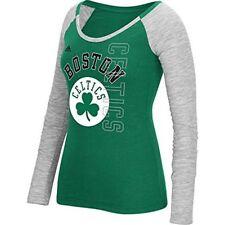 N0302 NBA Boston Celtics Women's Team Liquid Dots Long Sleeve Slub Tee Medium