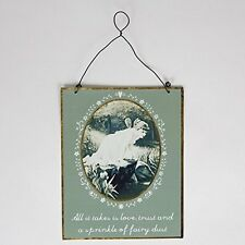 "Vintage ""Sprinkle of Fairy Dust"" Sign Hanging Decoration 17x14cm Sass & Belle"