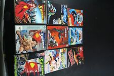 GRAPHIC NOVEL COMIC BOOK LOT BATMAN SUPERMAN SPIDERMAN COLLECTION 9 PC VGC