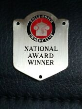 Rolls Royce National Award Winner Owners' Club RROC  Badge Tag Plaque