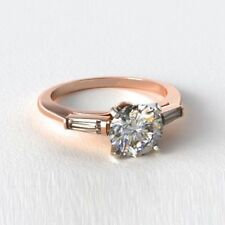Three-Stone Rose Gold Fine Rings
