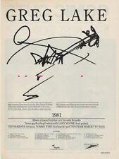 Greg Lake ELP 'The Face' Tour advert