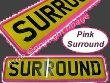Quality Pink Plastic Car Single Registration Number Plate Surround Frame Holder