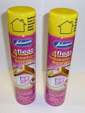 2 x Johnsons Flea Household Spray 600ml Trendy Home Cats Dogs Kills Flea Safe