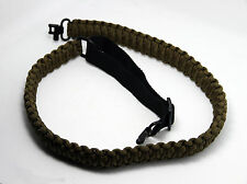 """Adjustable Paracord Gun Sling Strap with 1""""  2Pcs Swivels Hunting Shooting Acc"""