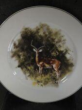 """Wedgwood World Wildlife Fund Impala Large Plate 10"""""""