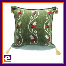 NEW EMBROIDERY THROW DECORATIVE SUPPORT CUSHION 43 x 43cm COUCH SOFA DAYBED
