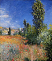 Oil painting Claude Monet - Landscape on the Ile Saint-Martin on canvas