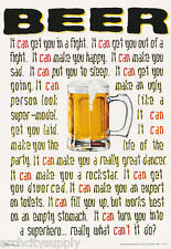 POSTER : COMICAL : BEER - WHAT CAN IT DO    - FREE SHIPPING!  #3209   LW7 M