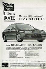 Publicité advertising 1994 Rover 620i Airbag