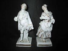 ancien encrier en porcelaine de vieux Paris couple noble XIX ème