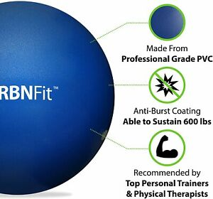 URBNFIT 55cm EXERCISE BALL GYM KIT for Yoga, Cross Fit, Pilates - Pump Included,