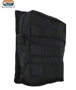 BLACK MEDIUM ARMY KOMBAT MOLLE UTILITY POUCH MILITARY AIRSOFT PAINTBALL