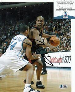 GARY PAYTON signed (MIAMI HEAT) Basketball 8X10 photo BECKETT BAS T89907