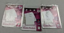 Lot Of 3 Avery 75243 Clear Binder Pockets 5 Pk 15 Total 9 14x11 3 Hole Punch