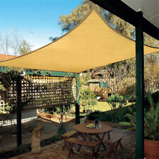 4M Sun Shade Sail Outdoor Garden Waterproof Awning Canopy Patio Cover UV Fitting