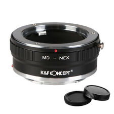 K&F Concept adapter mark II for Minolta MD mount lens to Sony E NEX a5000 A7R3