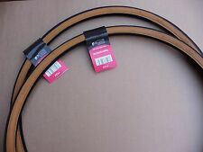 Pair 27 x 1 1/4 Road Bike Amber Wall Tyres Traditional Racing Bicycle Cycle Tan