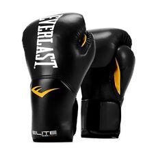 Everlast Elite Pro Style Leather Training Boxing Gloves Size 14 Ounces, Black