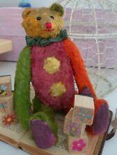 ANTIQUE BEARv Vintage  Teddy Bear Straw Stuffed 1950s
