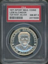 1971 Lew Alcindor Sport Magazine Top Performers Coin Silver PSA 8 NM-MT