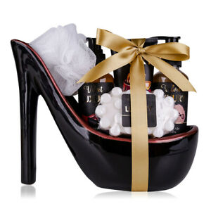 "Beauty Geschenkset Keramik Pump ""Velvet Luxury"" Damen Pflegeset Stiletto-Schuh"