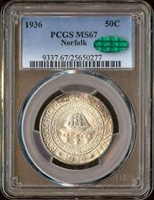 1936 US 50c Norfolk PCGS MS67 CAC