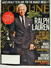 FORTUNE MAGAZINE SEPT 17 2007 LUXURY ISSUE; RALPH LAUREN COVER, MARC JACOBS RARE