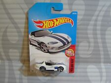 2017 HOT WHEELS ''THEN AND NOW'' #340 = DODGE VIPER R/T10 = WHITE   star , int.