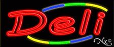 """Brand New """"Deli"""" 32x13 W/Multicolor Design Real Neon Sign w/Custom Options 10779"""