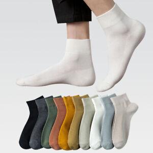 Men Cotton Socks Low Cut Ankle Socks Breathable Sports Short Socks Comfort 6-11