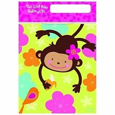 MONKEY LOVE Loot Bag Birthday Party Supplies 6-pc