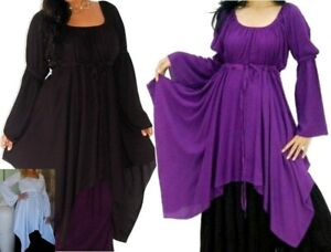 boho chic gypsy peasant blouse plus size 20 22 24 26 black white purple Swirl