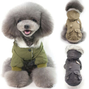 Winter Hooded Coat Pet Dog Hoodie Down Jacket Puppy Warm Clothes For Small Dogs