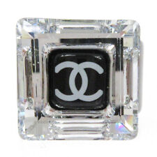 CHANEL CC Logos Charm Ring Black Size 6.5 Plastic 10A Accessories NR14220A