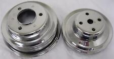 Chrome Pulleys Pulley Bbc Big Block Chevy LWP 396-454 Long Water Pump Pulley