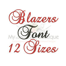 Brock Script Machine Embroidery Font - 12 Sizes - IMFCD10