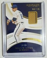 2020 Panini Immaculate Collection Baseball RELIC Brewers KESTON HIURA #57 /99
