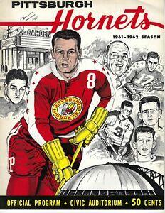 1961-62 hockey program Pittsburgh Hornets VG