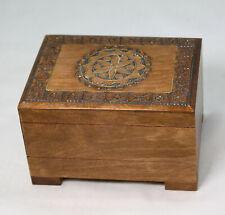 kleine schöne Holz Truhe, Schachtel, Kiste, Box mit 2 Fächern