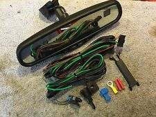 Gentex 177 Auto Dimming Mirror w/ Compass Temperature Wiring Sensor & Wire Cover